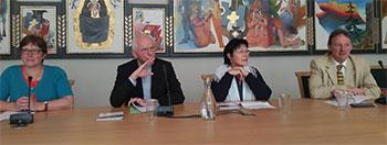 Persconferentie in Mechelen bij het uitbrengen van de pastorale brief (foto: kerknet.be)