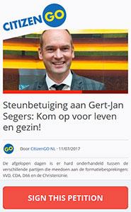 Steunbetuiging aan Gert-Jan Segers