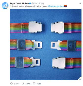 KLM Tweet suggereert dat alleen een huwelijk tussen een man en een vrouw werkt