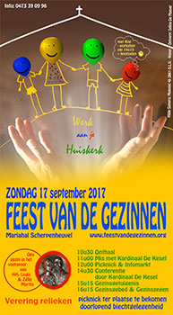 Zondag 17 september 2017 - Feest van de Gezinnen
